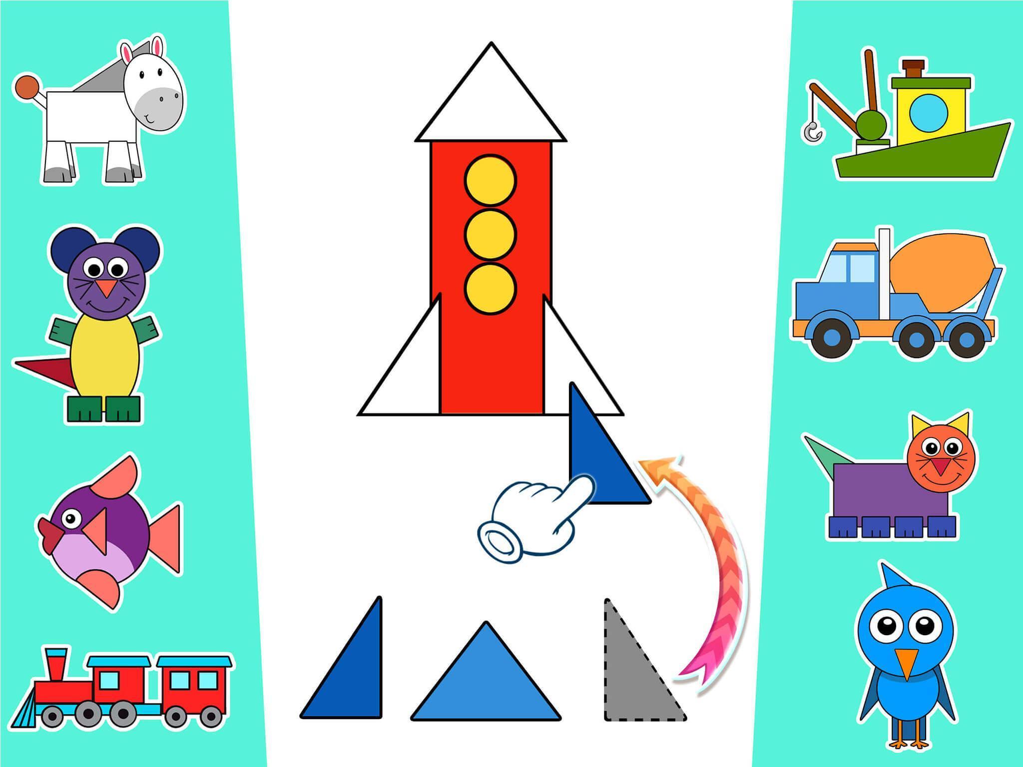 Formes Et Couleurs - Jeux Educatif 2 - 5 Ans Pour Android destiné Jeux Educatif 5 6 Ans