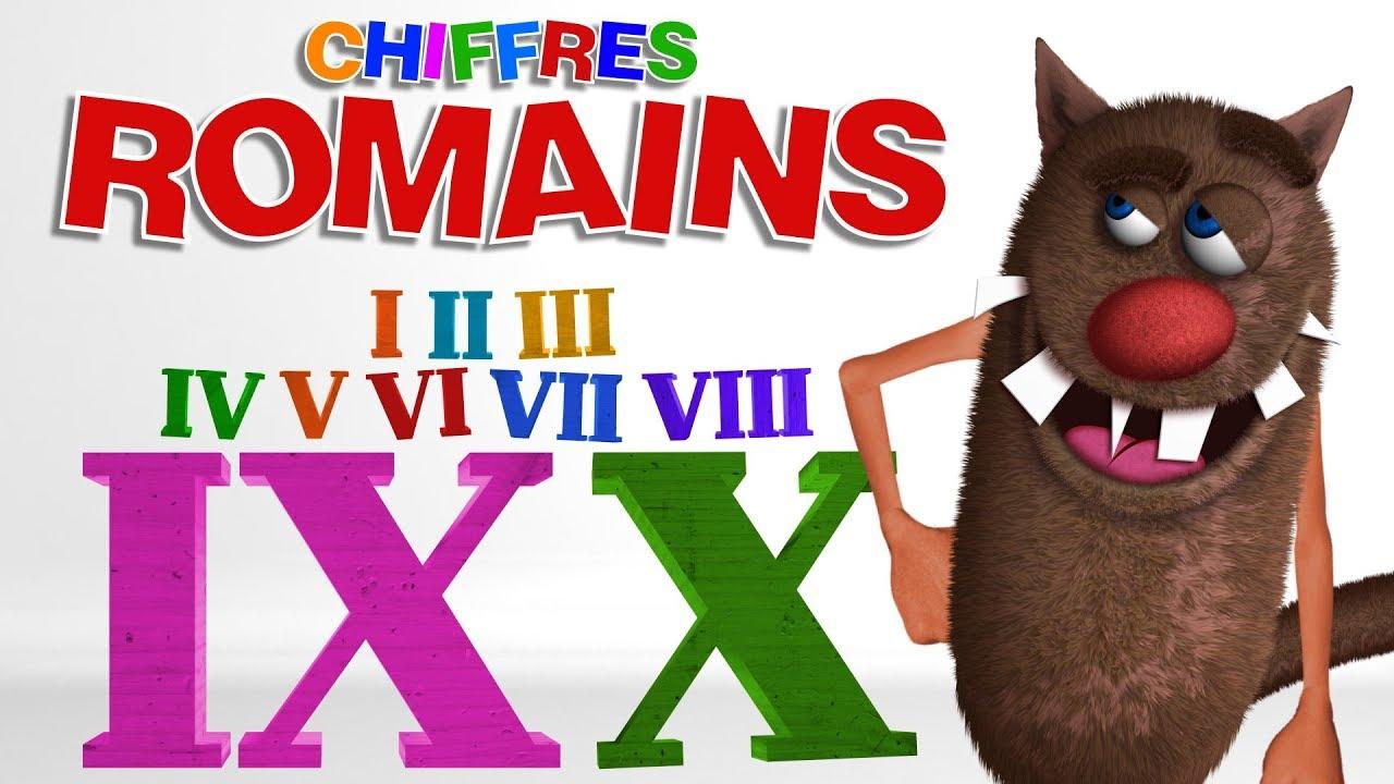 Foufou - Les Chiffres Romains Pour Les Enfants (Learn Roman Numbers For  Kids) 4K concernant Dessin Chiffre Romain
