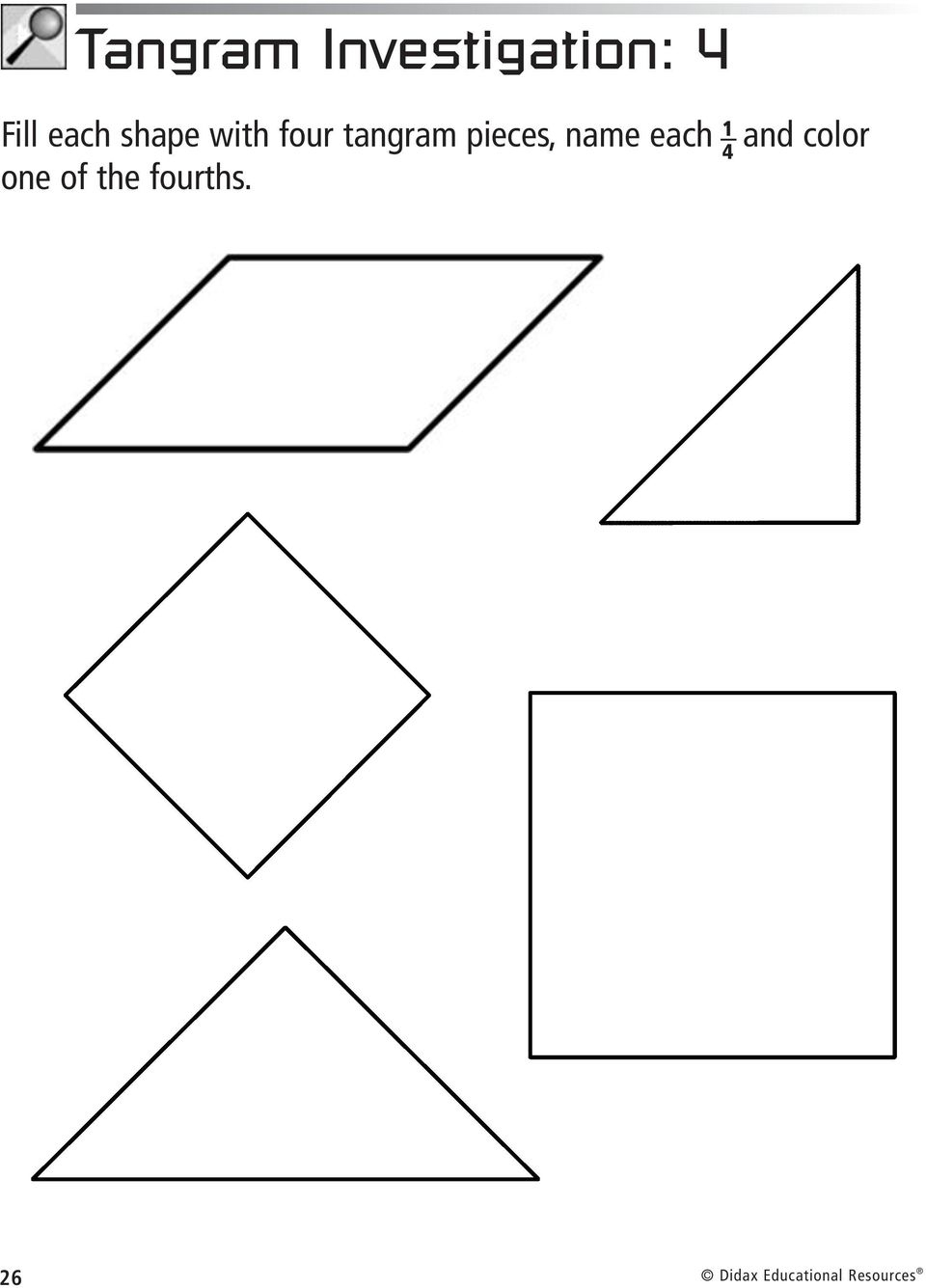 Fractions Tangrams With. Larry Ecklund - Pdf Free Download destiné Tangram Cycle 3