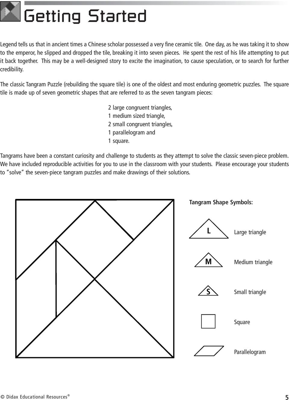 Fractions Tangrams With. Larry Ecklund - Pdf Free Download intérieur Tangram Cycle 3