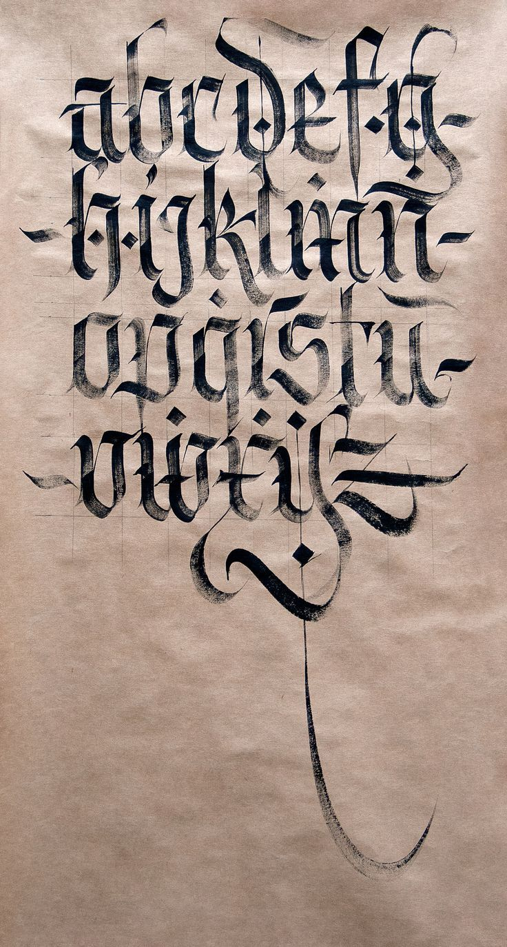 Fraktur Minuscule. | Tattoo Lettering Styles, Tattoo pour Alphabet Script Minuscule