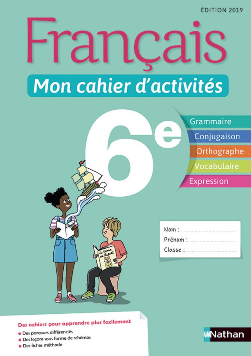 Français - Mon Cahier D'activités - 6E - Cahier De L'élève destiné Cahier D Activité A Imprimer