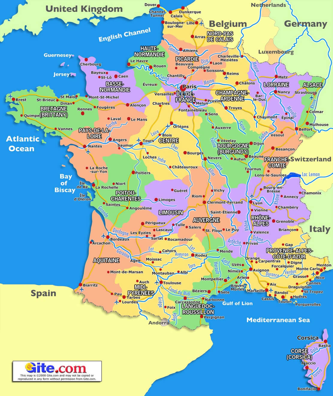France Carte avec Carte De France Avec Region