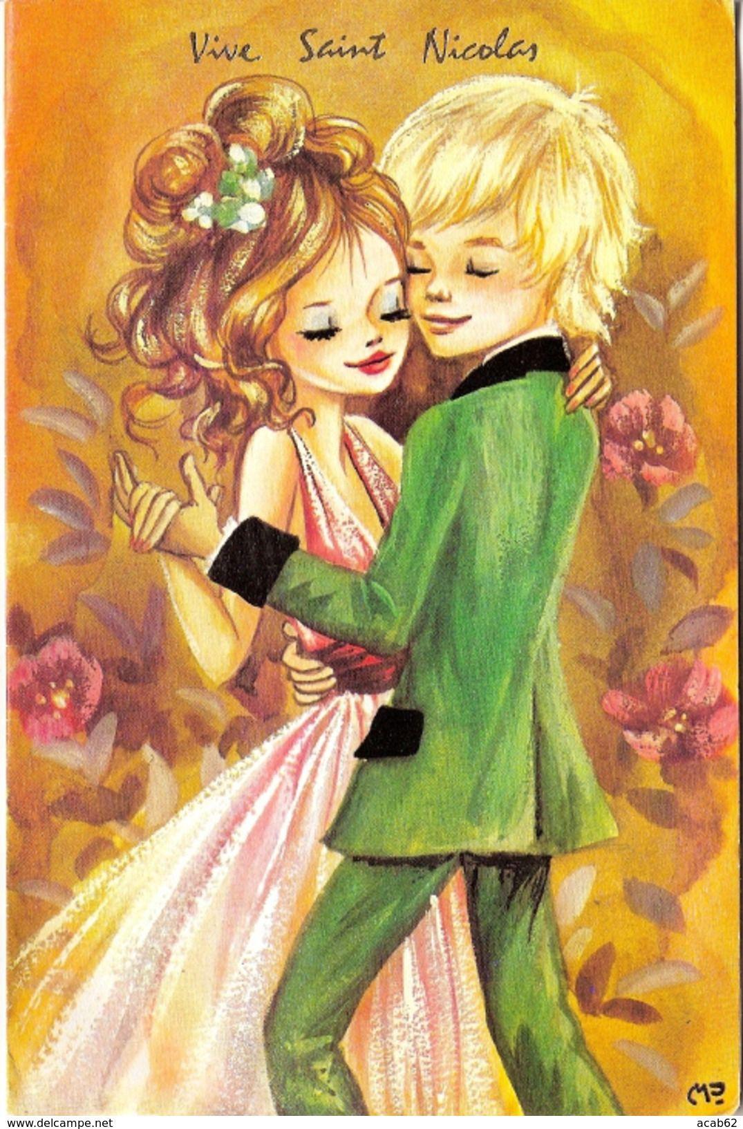 France Carte Postale Saint Nicolas Danse Amoureux | Image serapportantà Carte De France Pour Enfant