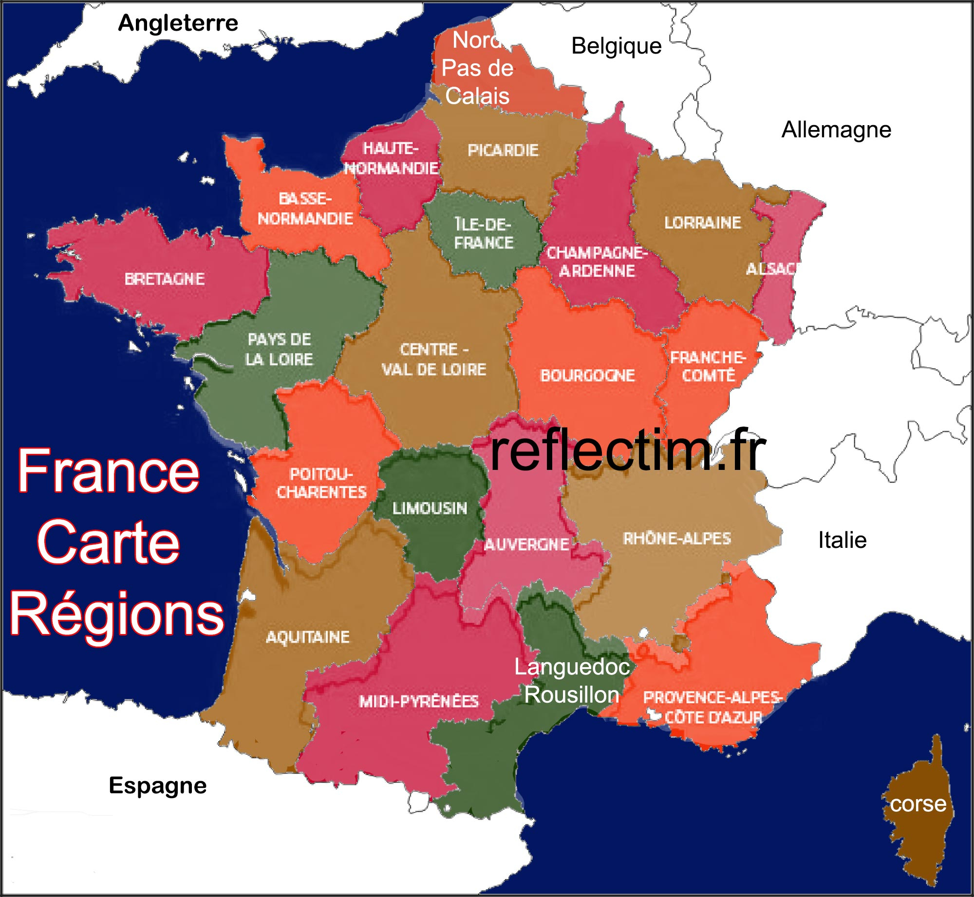 France Carte Région - Voyages - Cartes à Carte De Region France