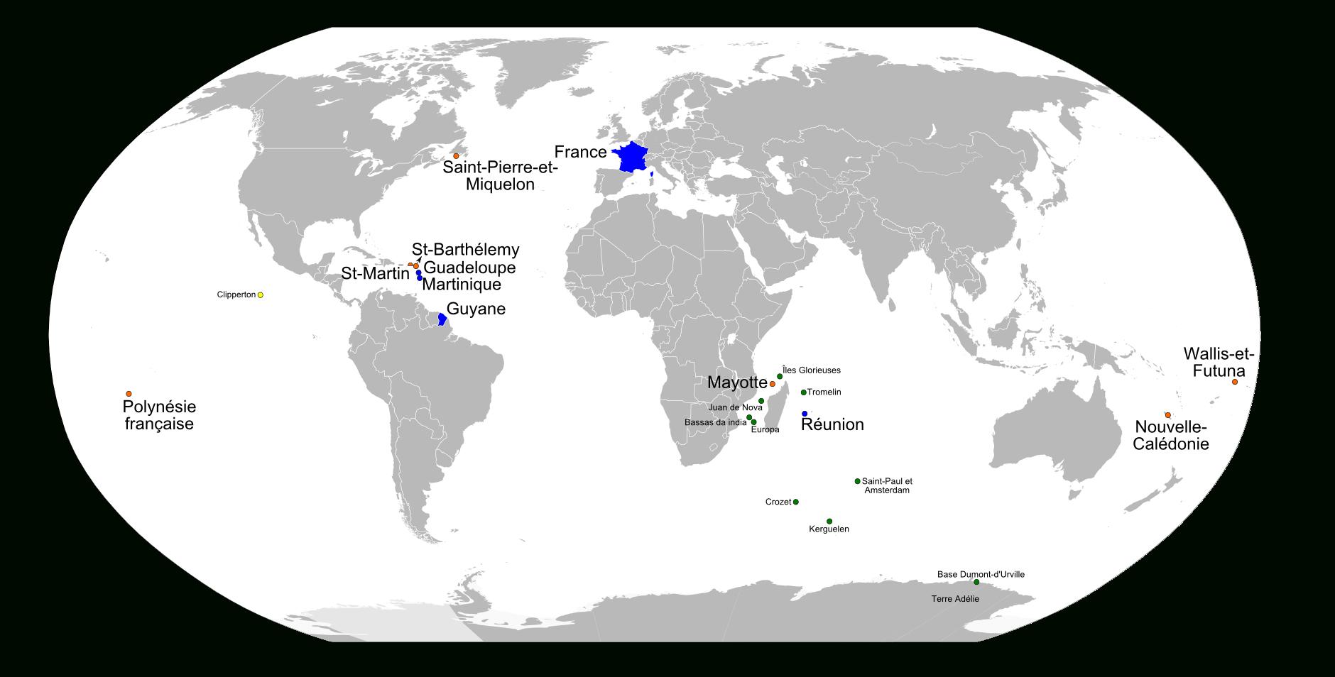 France D'outre-Mer tout Département D Outre Mer Carte