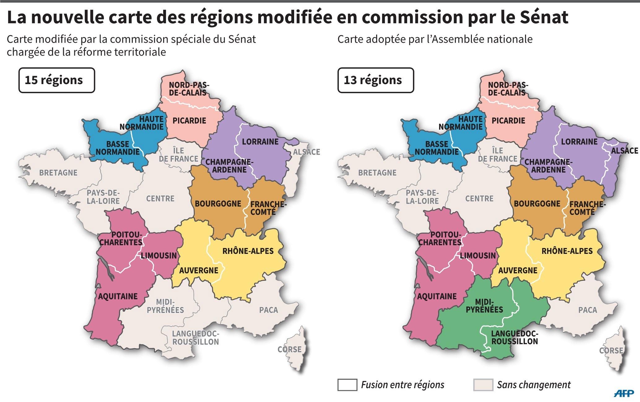 France - Monde | La Carte Des Régions De Nouveau Au Découpage tout Decoupage Region France