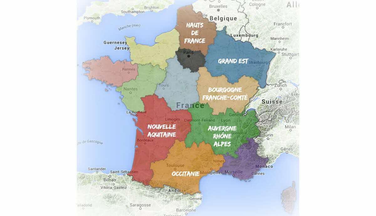 France-Monde | Les Nouveaux Noms Des Régions De France intérieur Les Nouvelles Regions