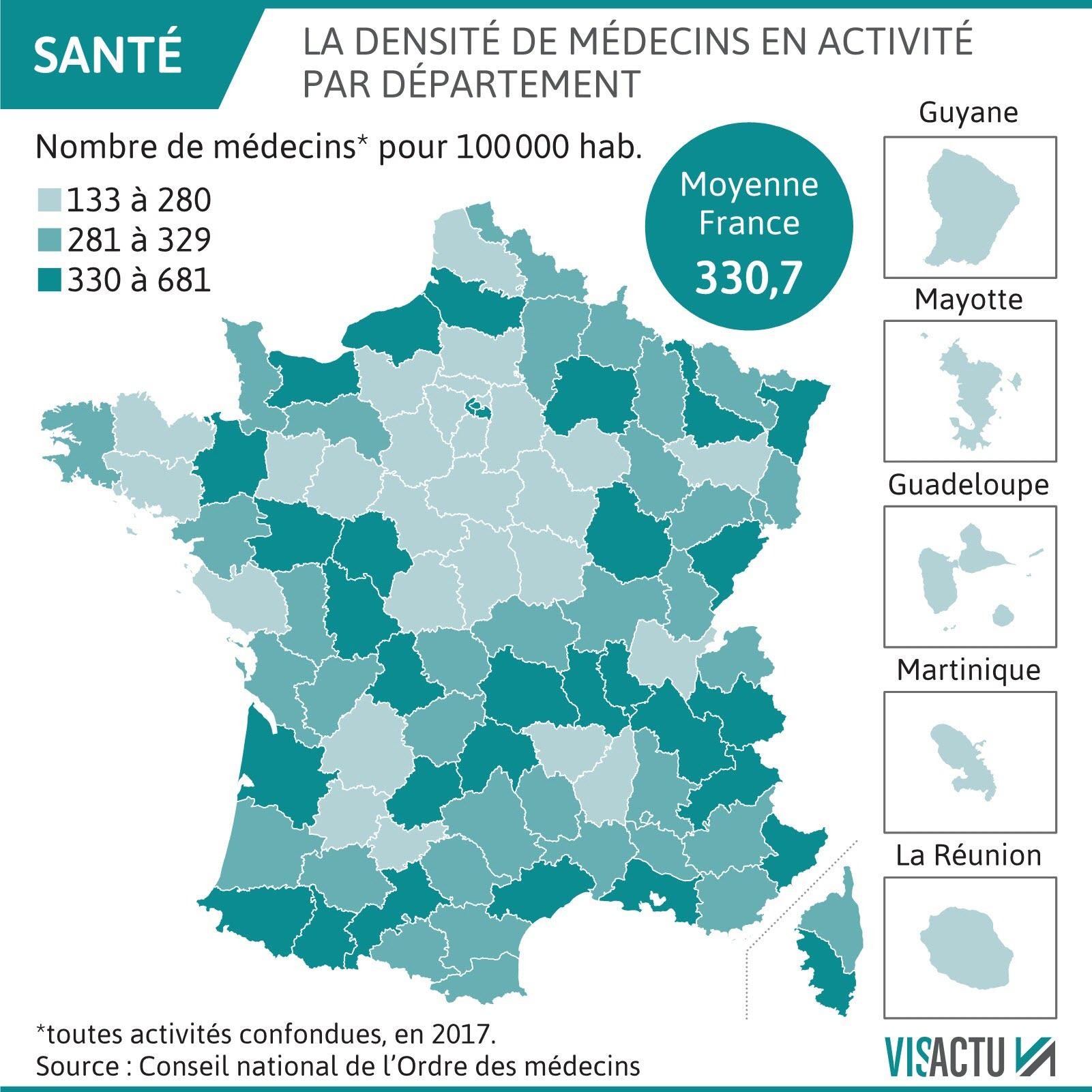 France-Monde | Médecins : Face À La Diagonale Du Vide destiné Carte Des Départements De France 2017
