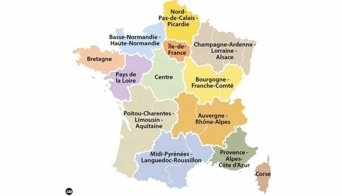 France - Monde | Régions, Départements, Communes: Les tout Départements Et Régions De France