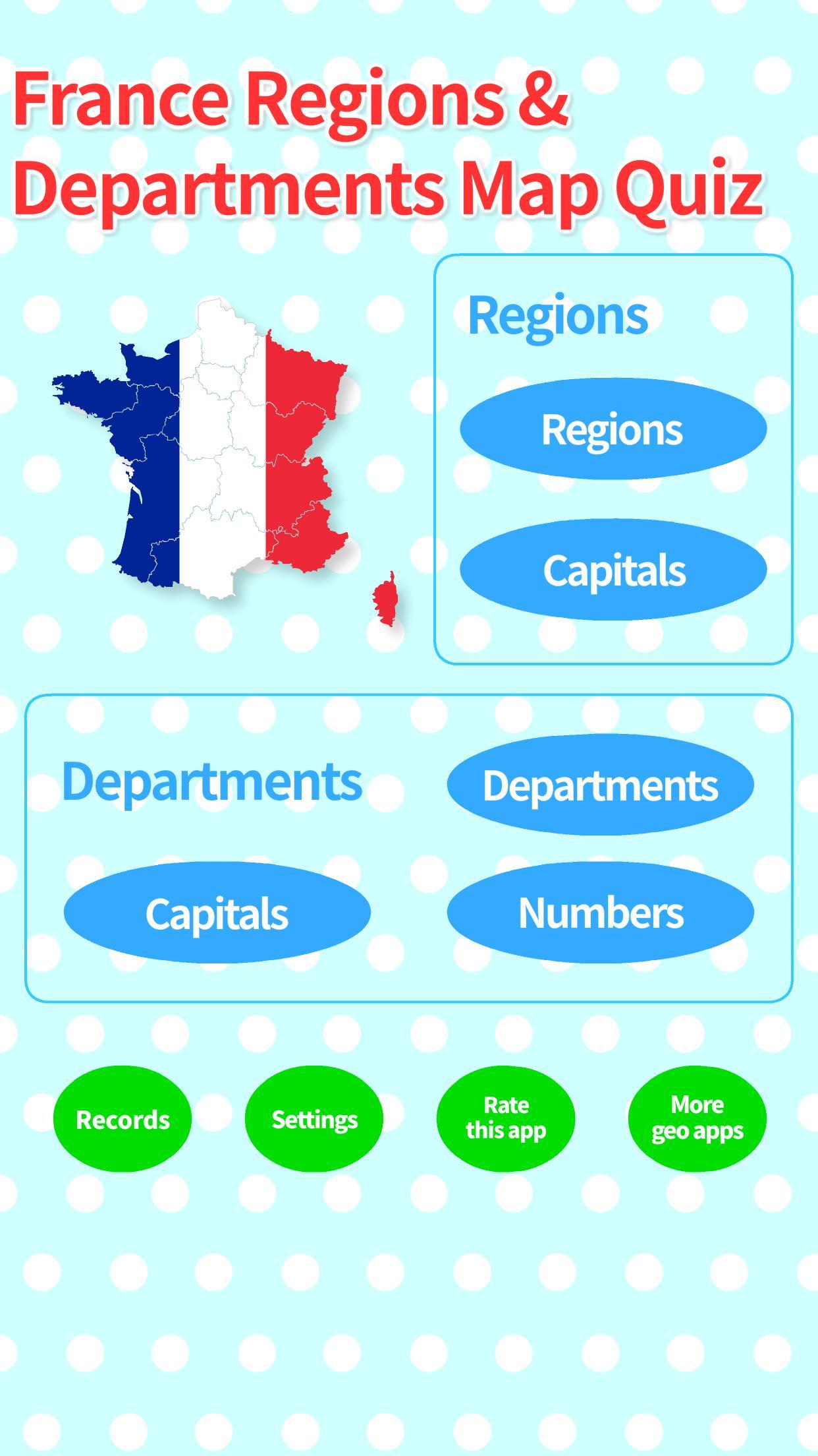France Regions & Departments Map Quiz For Android - Apk Download serapportantà Quiz Régions De France