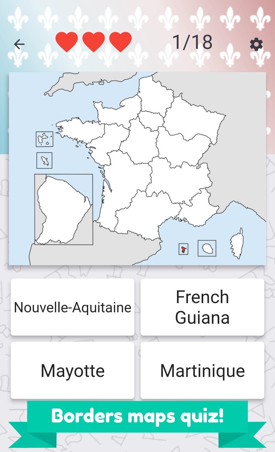 France Regions – Flags, Maps & Capitals For Android - Apk pour Quiz Régions De France