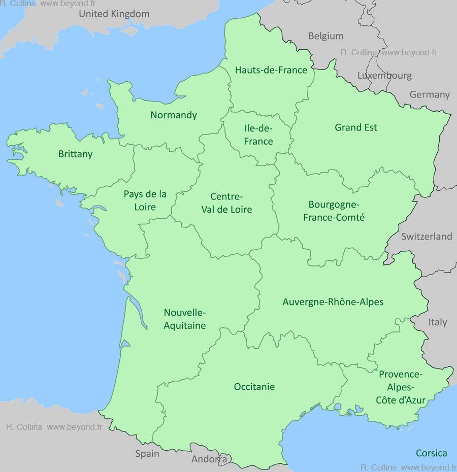 France Regions Map, By Provence Beyond encequiconcerne Liste Region De France