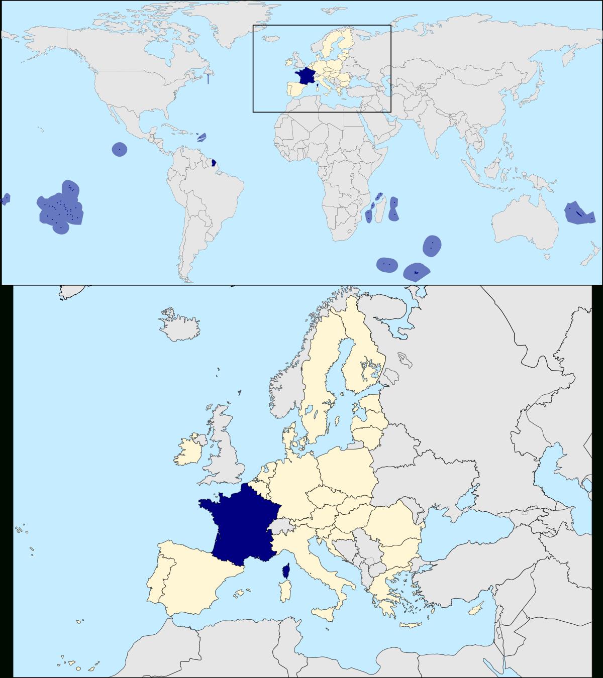 France — Wikipédia serapportantà Carte Du Monde Avec Capitale