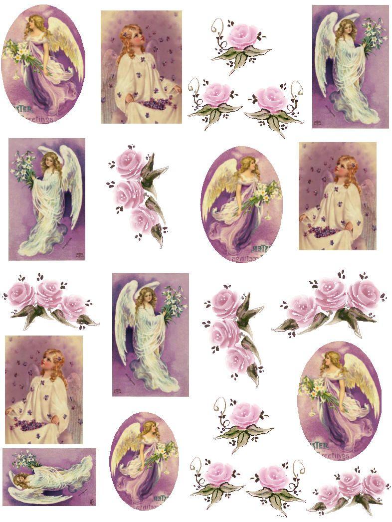 Free Christmas Vintage Printable | Decoupage Paper Collage dedans Découpage Collage A Imprimer