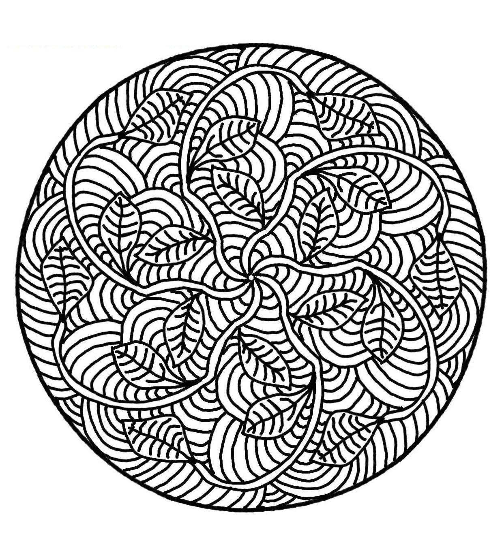 Free Mandalas Page «Mandala-To-Color-Flowers-Vegetation-To encequiconcerne Mandala À Colorier Et À Imprimer Gratuit
