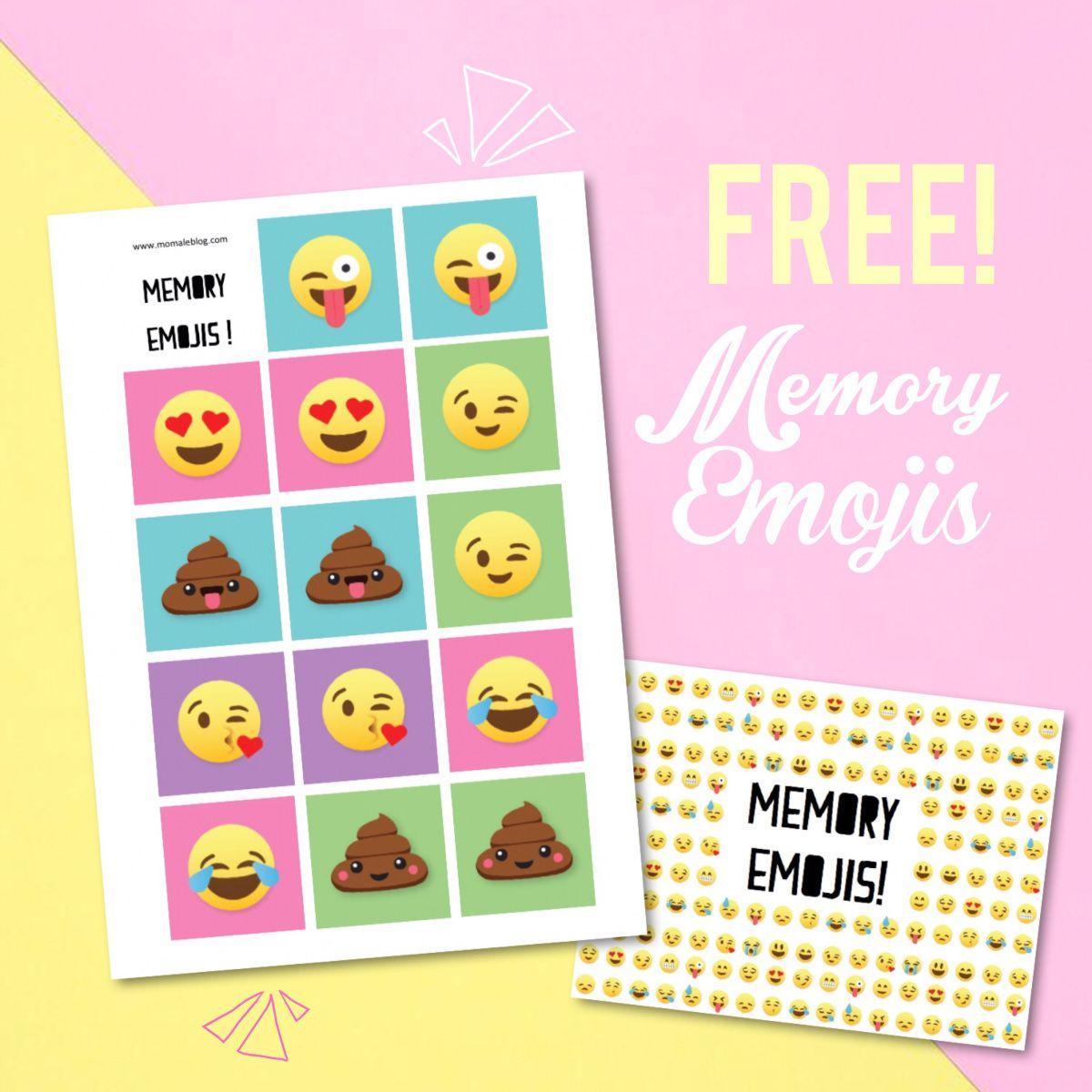 Free} Memory Emojis À Imprimer! | Jeux A Imprimer, Free Et A tout Memory Enfant Gratuit