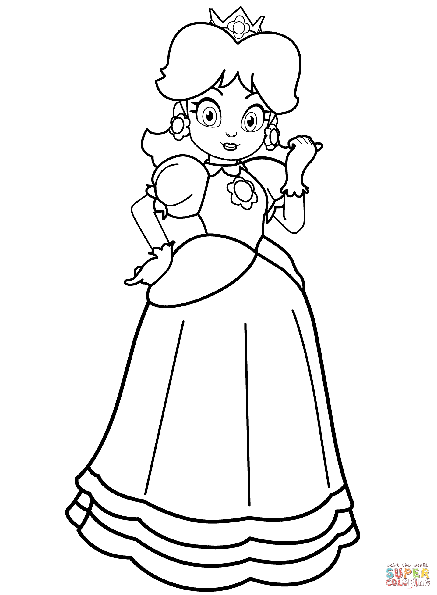 Free Princess Daisy Coloring Page, Download Free Clip Art concernant Sudoku Junior À Imprimer