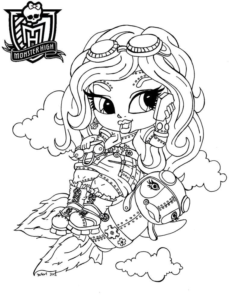 Free Printable Monster High Coloring Pages For Kids encequiconcerne Image Monster High A Imprimer