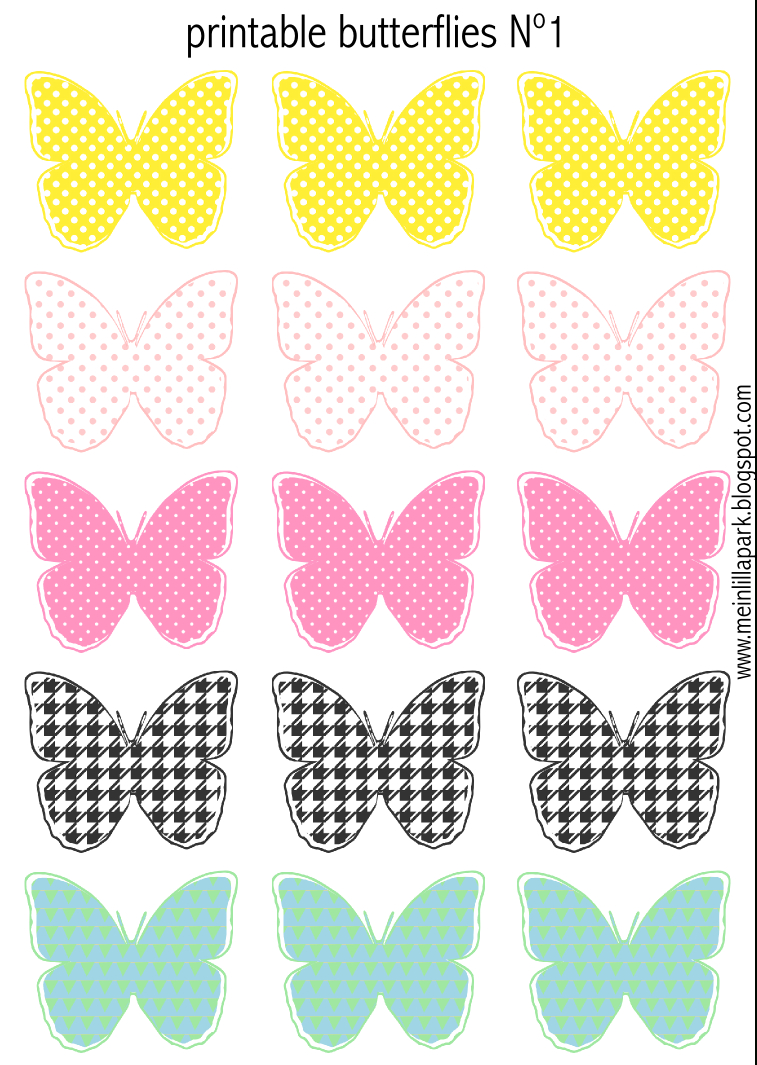 Free Printable Pastel Colored Butterflies - Schmetterling destiné Etiquette Papillon A Imprimer