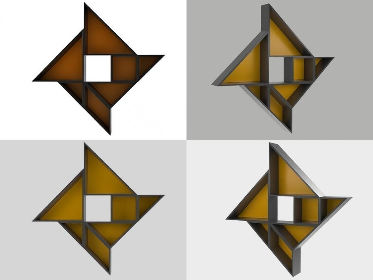 Free Tangram 9 3D Model - Turbosquid 1184845 avec Tangram Chat