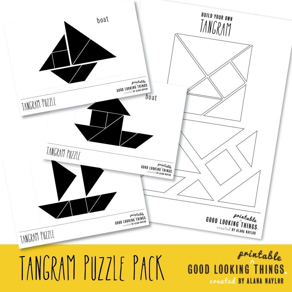Free Tangram Boat Puzzle Pack Via Goodlookingthings intérieur Tangram En Maternelle