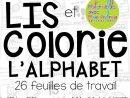 French Alphabet Read And Colour - Lis Et Colorie L'alphabet encequiconcerne Apprendre L Alphabet En Francais Maternelle