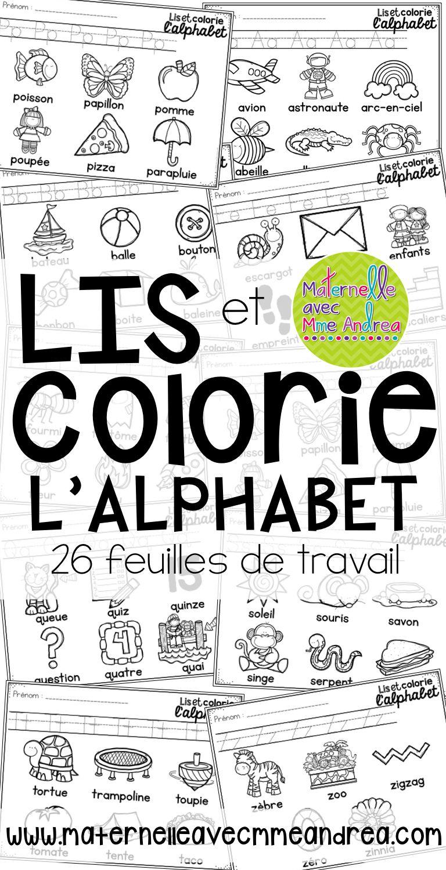 French Alphabet Read And Colour - Lis Et Colorie L'alphabet tout Apprendre Alphabet Francais