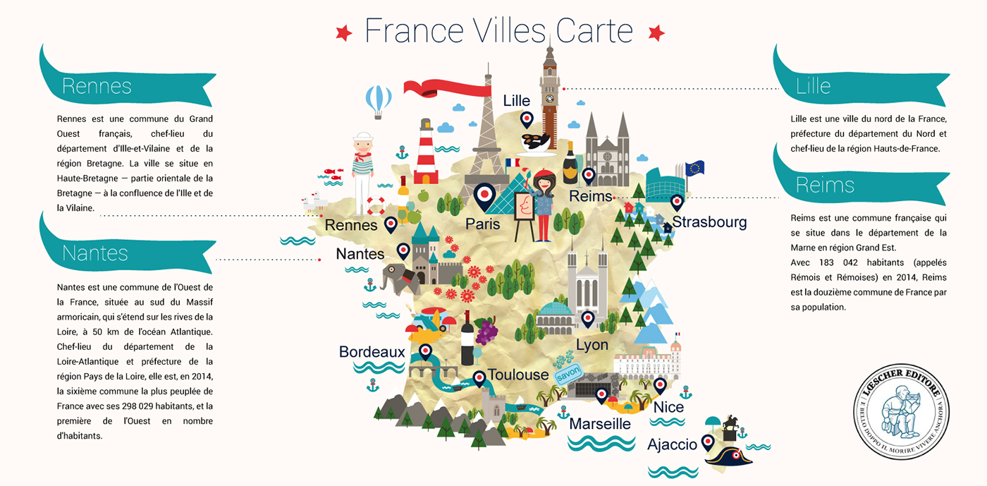 French Language Course On Behance tout Carte Region Departement