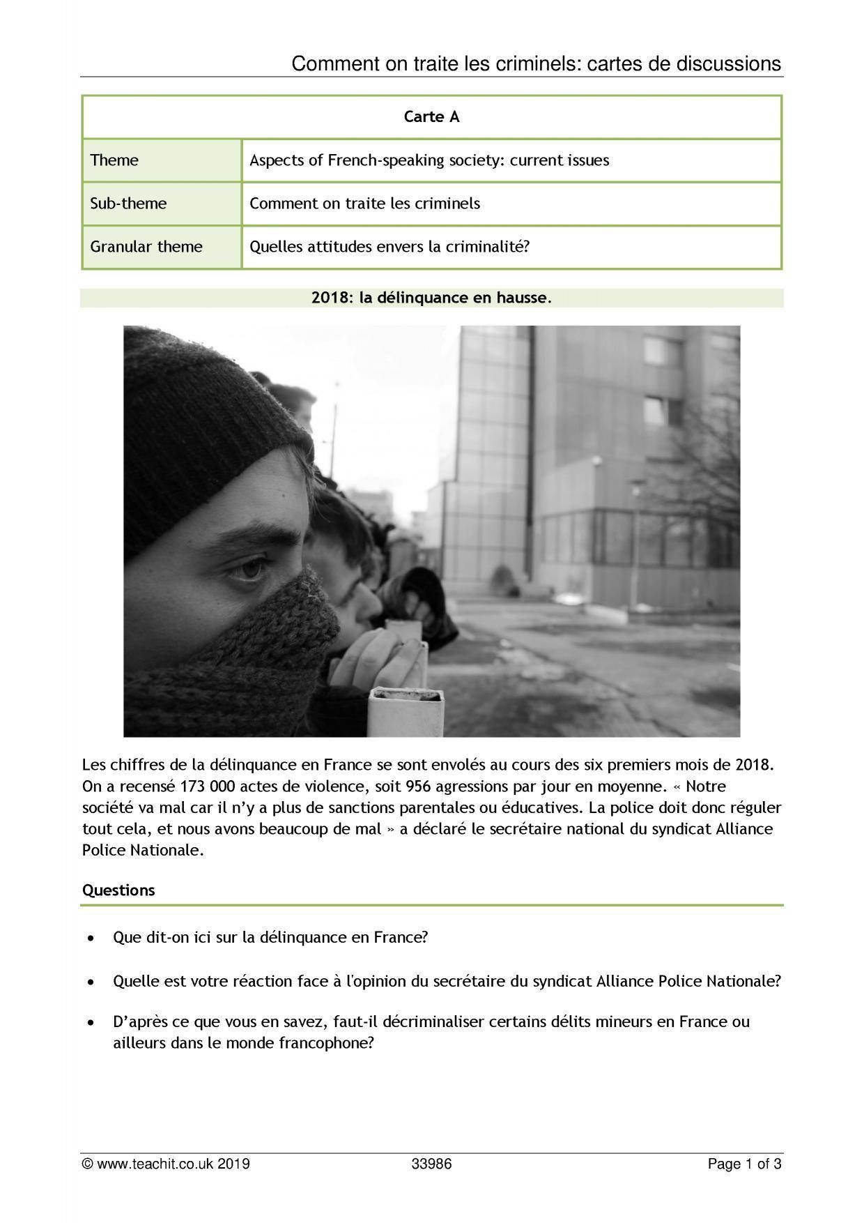 French Language Teaching Resources | Teachit Languages destiné Combien De Region En France 2017