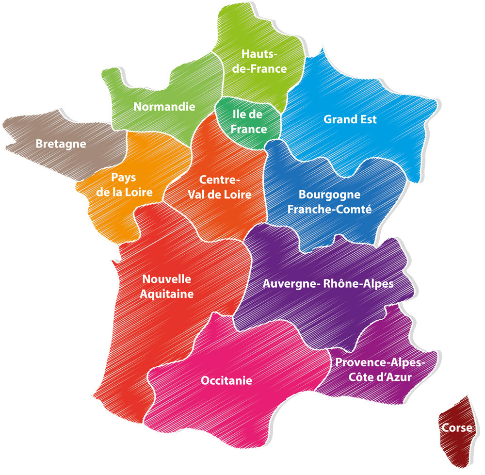 French Regions Changes - Now Time For Us Too! encequiconcerne Region De France 2018