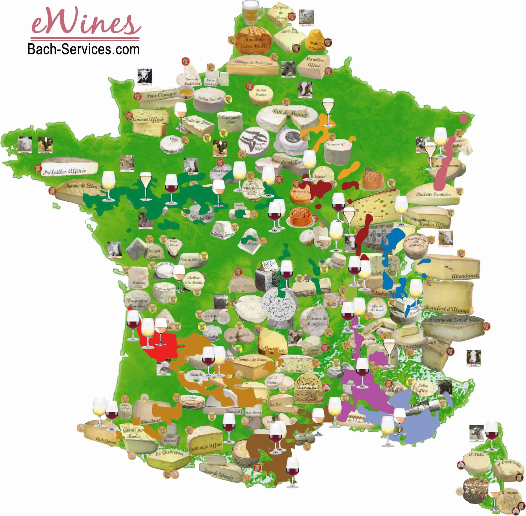 French Wines Cheeses - The Ultimate Chart To Understand serapportantà Carte De Region France