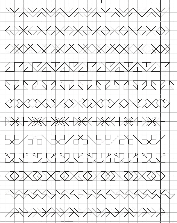 Frise | Géométriquement encequiconcerne Reproduction Sur Quadrillage Cp