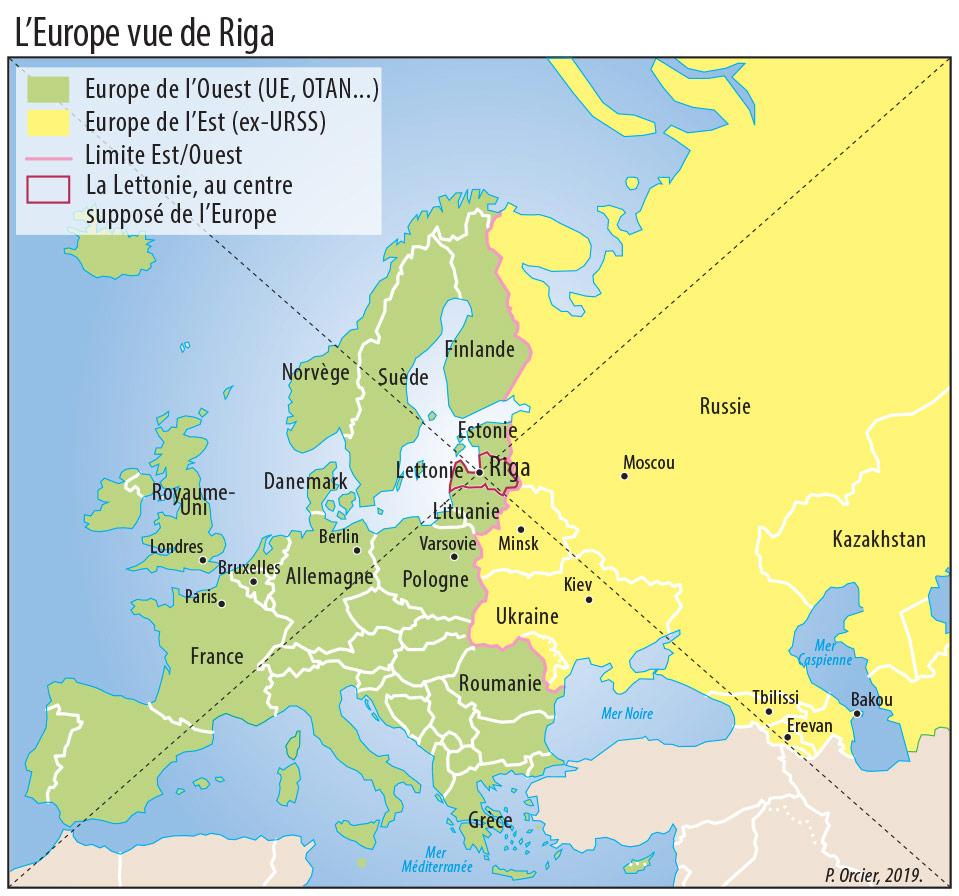 Frontières Et Territoires Frontaliers En Europe : Une Visite pour Carte Europe De L Est