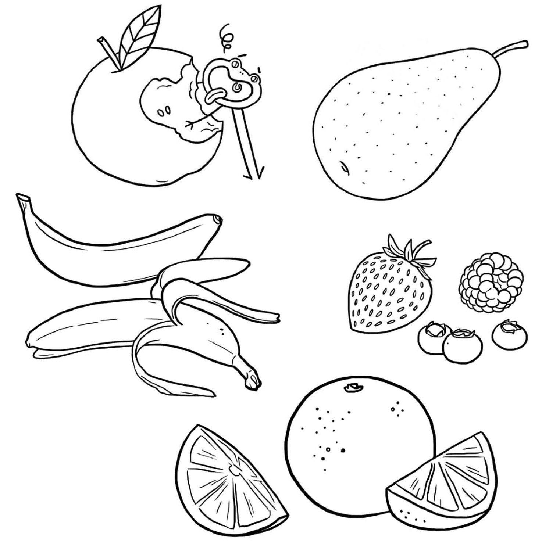 Fruits, Dessin À Colorier, Coloriage, Printable, Pdf, Jeu À serapportantà Jeux Enfant Dessin