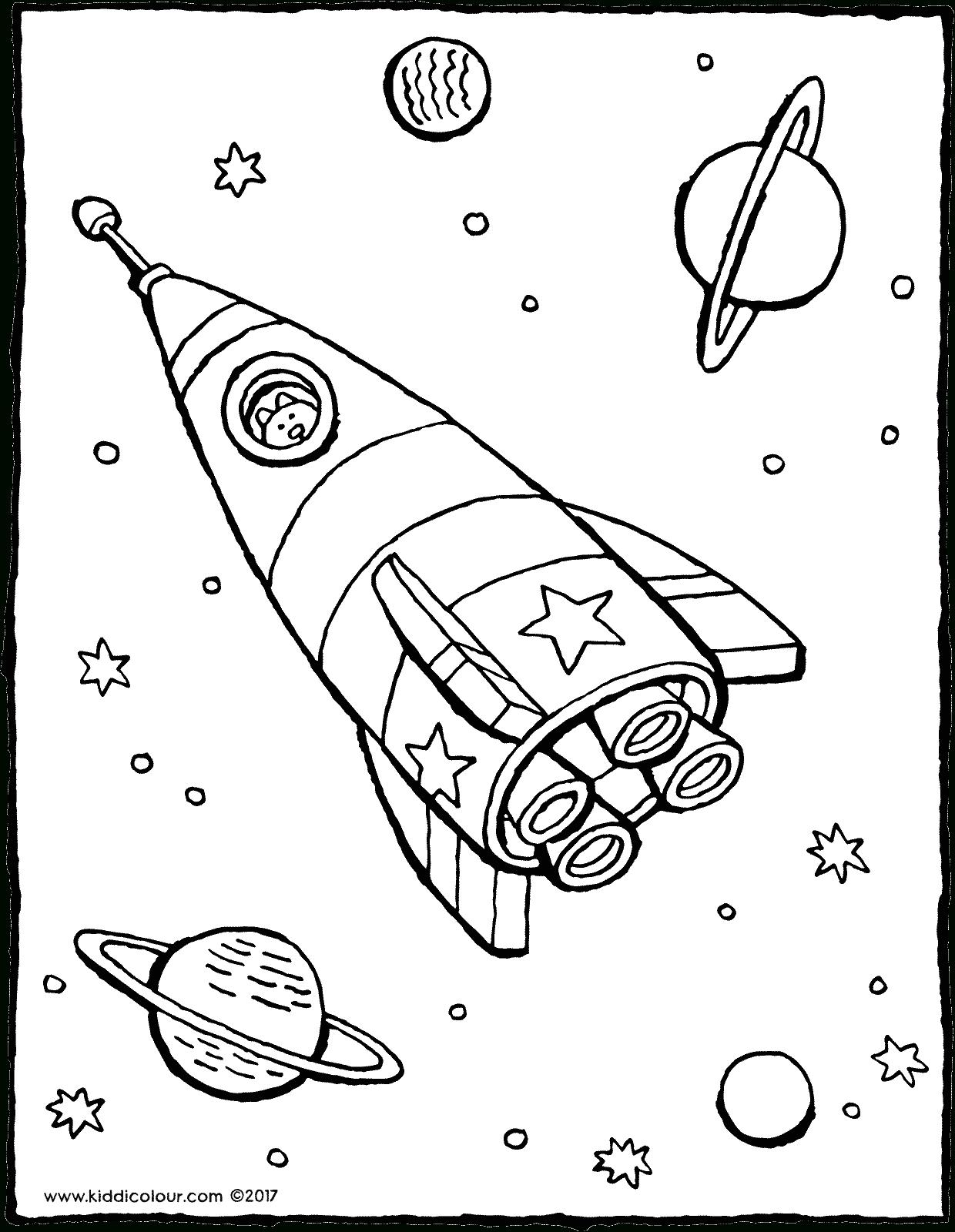 Fusée Dans L'espace - Kiddicoloriage à Fusée À Imprimer