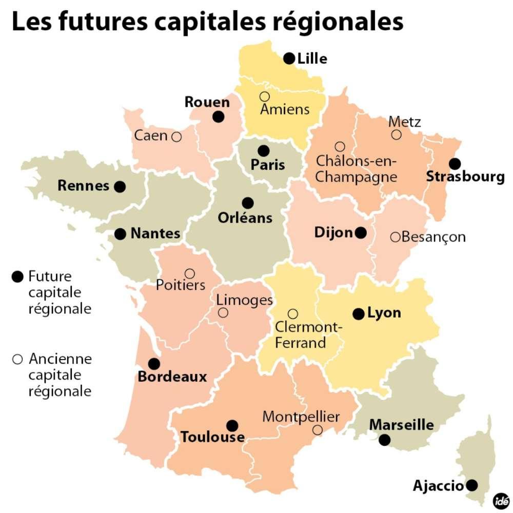 Fusion Des Régions : Les Nouvelles Capitales Dévoilées destiné Les Nouvelles Regions