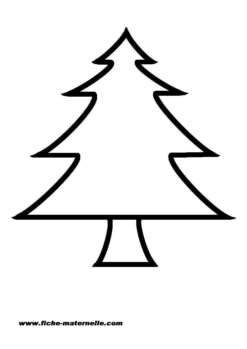 Gabarit D'un Sapin De Noël encequiconcerne Gabarit Sapin De Noel A Imprimer