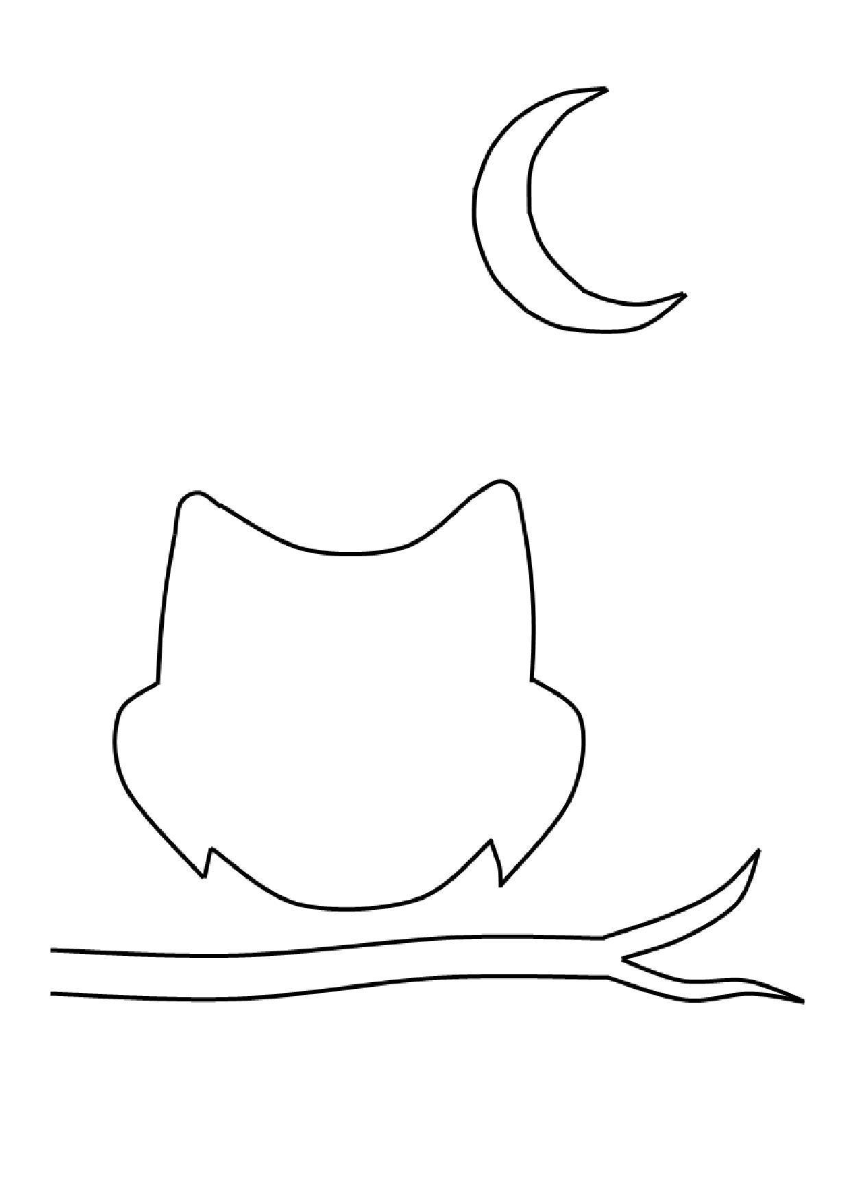 Gabarit - Hibou À Pois Blancs encequiconcerne Hibou A Imprimer