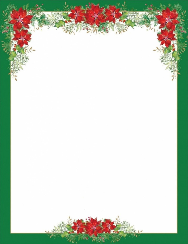 Gabarit Papier À Lettre De Noel Word pour Papier Lettre De Noel