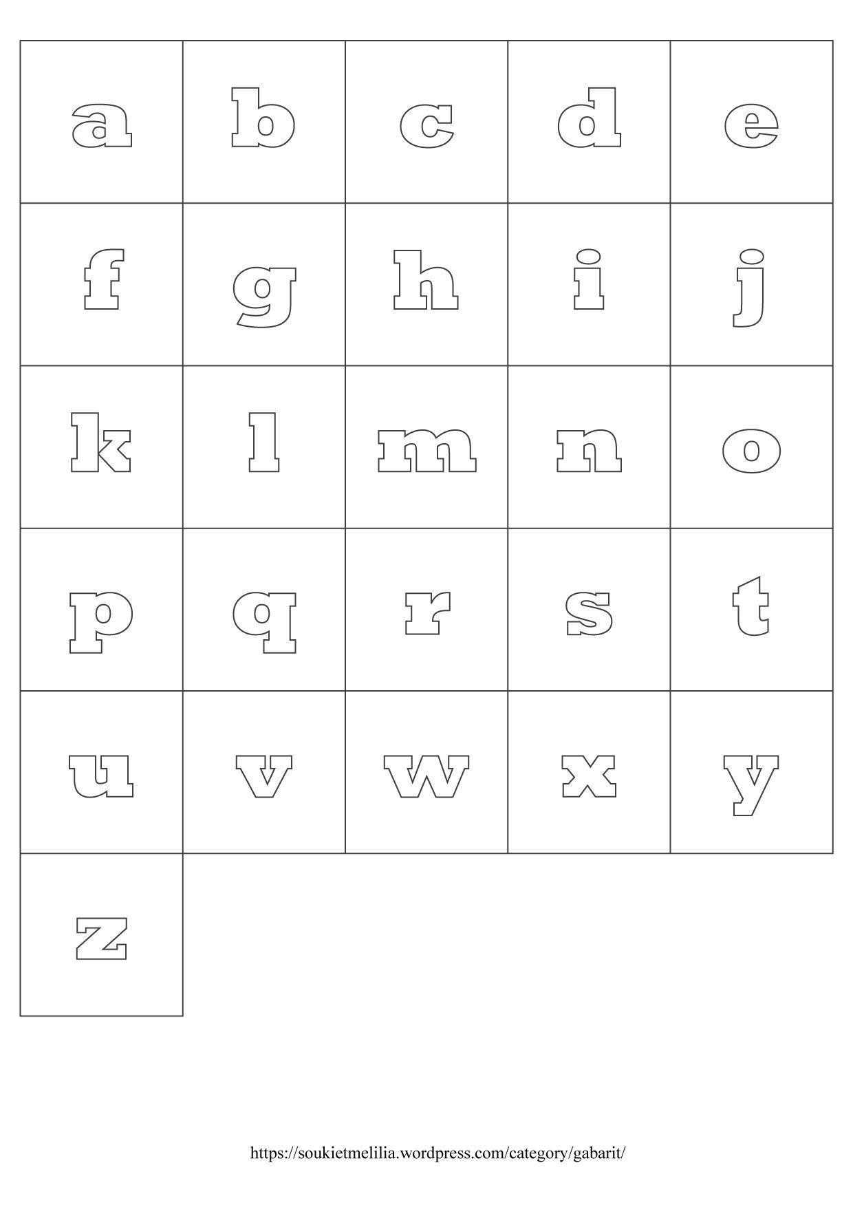 Gabarits Alphabet À Télécharger Au Format Pdf | Lettre destiné Alphabet Majuscule Et Minuscule