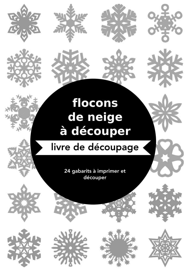 Gabarits De Flocons De Neige En Papier avec Decoupage A Imprimer Gratuit