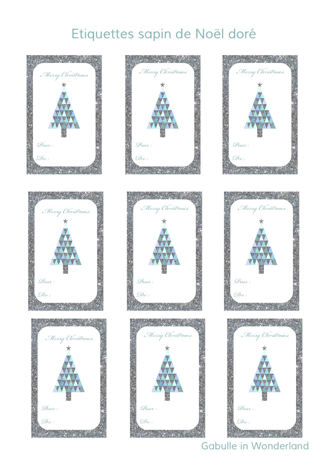 Gabulle In Wonderland: Etiquettes À Imprimer Pour Vos concernant Etiquette Noel À Imprimer