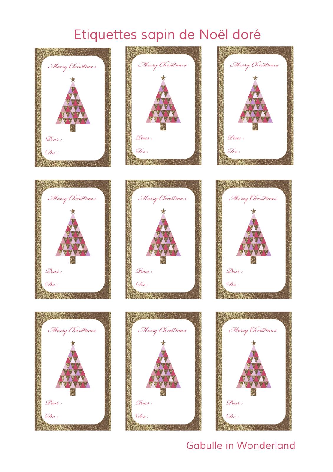 Gabulle In Wonderland: Etiquettes À Imprimer Pour Vos intérieur Etiquette Cadeau Noel A Imprimer Gratuitement