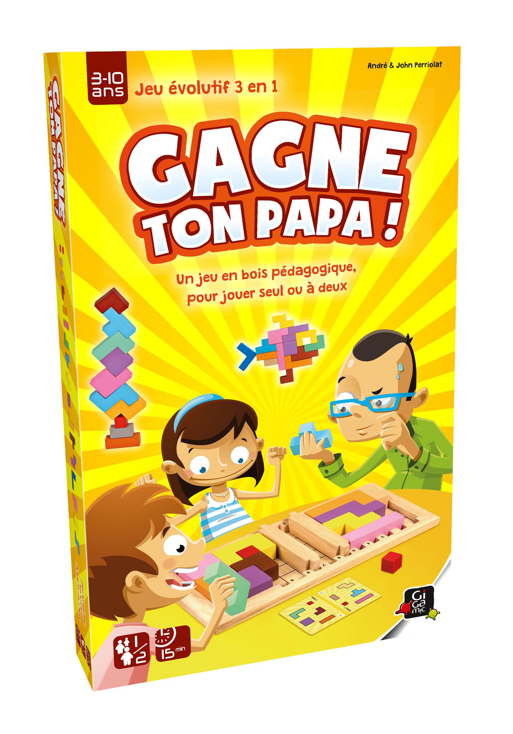 Gagne Ton Papa - Jeu De Société Pour Enfant Et En Famille concernant Jeux Educatif 7 Ans