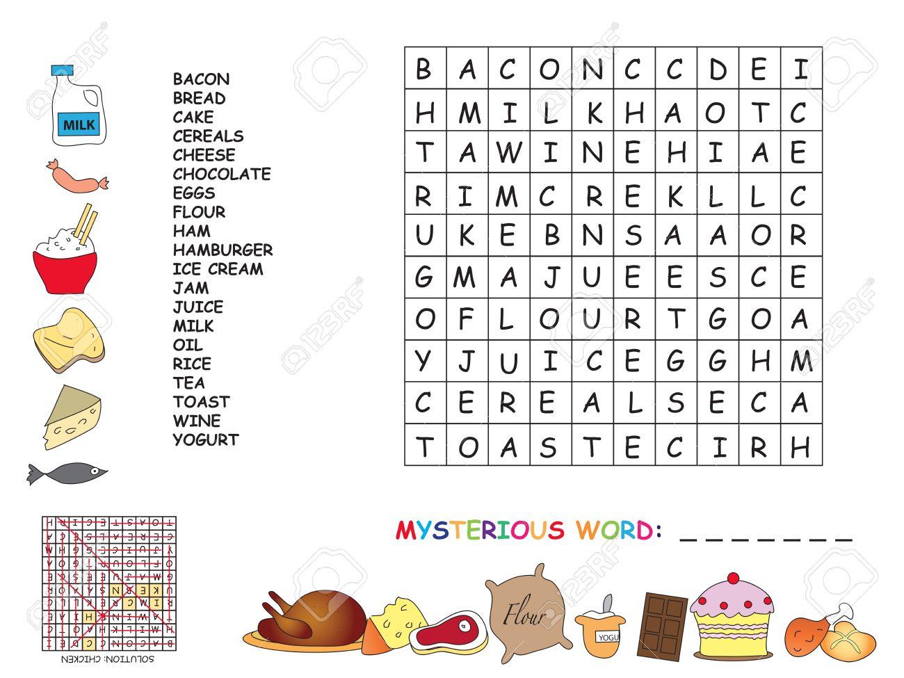 Game For Children: Crossword concernant Mot Pour Enfant