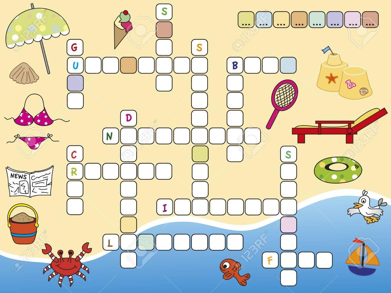 Game For Children Crossword concernant Mot Pour Enfant