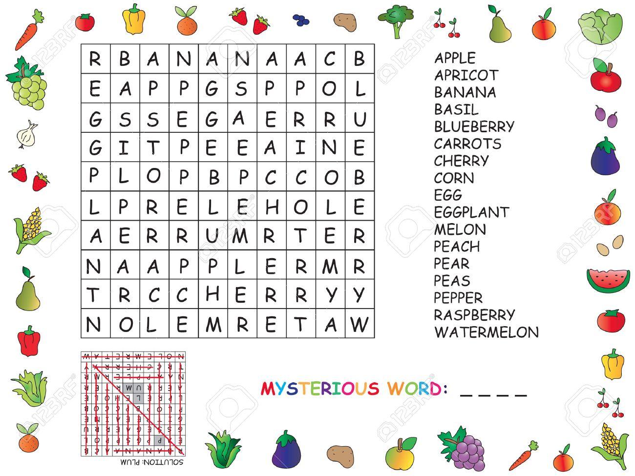 Game For Children: Crossword encequiconcerne Mot Pour Enfant