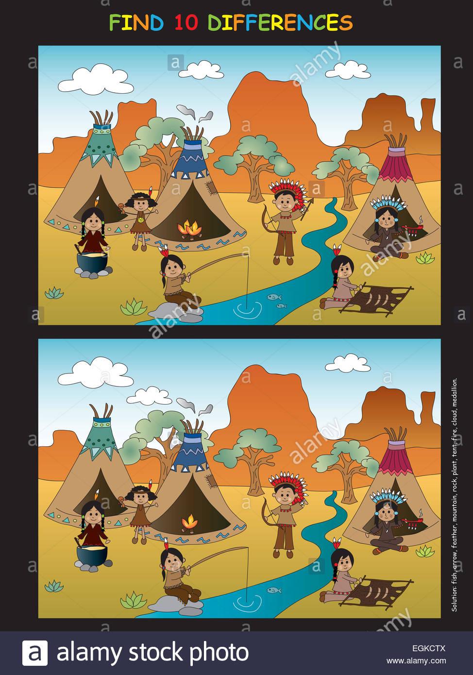 Game For Children : Find Ten Differences Stock Photo serapportantà Jeux De La Différence