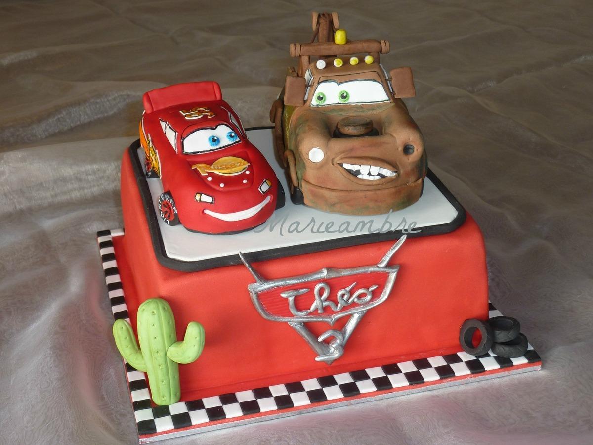 Gâteau Cars Avec Martin Et Flash Mcqueen - Le Blog De Marieambre destiné Flash Mcqueen Martin